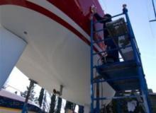 SMN Port Grimaud Schiffswerft Anstricharbeiten
